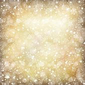 Merry Christmas Golden Background with Stars