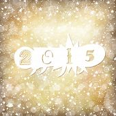 2015 Golden Background with Stars