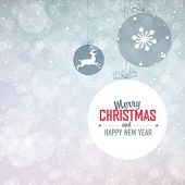 New Year Background  with Falling Snow