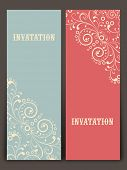 Floral decorated beautiful Invitations card design.