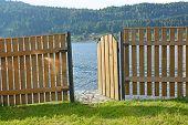 Fence And Lake