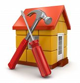 House and Tools (clipping path included)