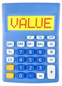 Calculator With Value On Display Isolated
