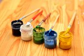 The brush and paint