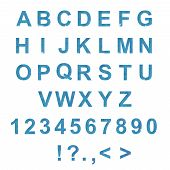 Modern, trendy type font