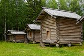 wooden barns