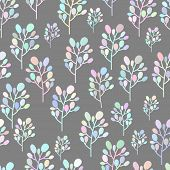 Pastel colorful brunch seamless pattern hand drawing style.