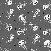 Seamless background with Skeletons