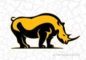 Rhino. Logo style