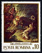 Postage Stamp Romania 1970 The Hunt, By Domenico Brandi