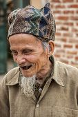 Old Vietnamese Man With Extremely Bad Teeth.