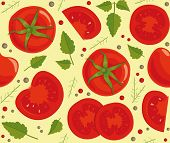Background with tomatoes