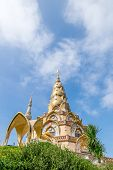 Golden Pagoda At Wat Phra That Pha Son Kaew
