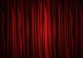 picture of curtains stage  - Background image of red velvet stage curtain - JPG