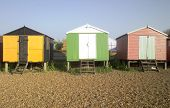 Beach Huts Whitstable Kent Uk England