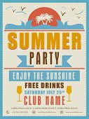 picture of club party  - Vintage Summer Party invitation card design with details - JPG