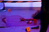 pic of murders  - Picture of murder scene with killed woman - JPG