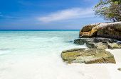 picture of crystal clear  - Crystal clear sea and white sand beach at Tachai island Andaman Thailand - JPG