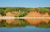picture of kama  - hills on a river bank of Kama river Russia - JPG