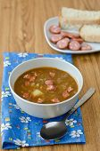 picture of sausage  - Lentil soup with sausages and potatoes - JPG