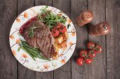 image of rib eye steak  - Beef rib - JPG