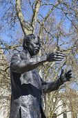 picture of nelson mandela  - A statue of former South African President Nelson Mandela situated on Parliament Square in London - JPG