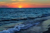 stock photo of gulf mexico  - The sunsets over the Gulf of Mexico at Sanibel Island Florida - JPG
