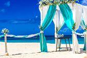 picture of gazebo  - beach wedding venue - JPG