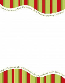 image of candy cane border  - Retro striped frame with red and green stripes with merry christmas letters - JPG