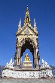 picture of kensington  - A view of the magnificent Albert Memorial in Kensington Gardens London - JPG