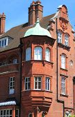 Balcony in a british red brick mansion