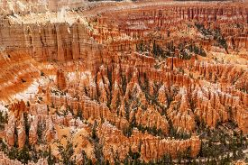 picture of hoodoo  - Amphitheater Hoodoos Inspiration Point Bryce Canyon National Park Utah - JPG