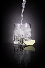 foto of vodka  - Drinking vodka - JPG