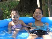 Kids In Mini Pool