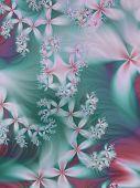 Dreamy Floral Fractal Background
