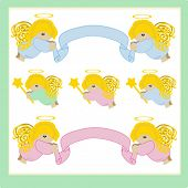 Collection  of designer angels for Your scrapbook