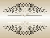 Vintage background with flowers  Elegant  Beige Symmetric inward Forms for your design