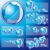 Set of Grouped bubbles