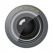 Vector zoom lens. Very easy to edit file