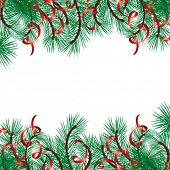 Christmas vector background with a space for your text.