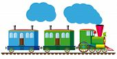 Funny train for your design project. very easy to edit vector file