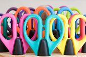 school supplies - colorful scissors