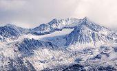 snowy mountains - coastal range near whistler in british columbia, canada