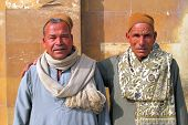 Two Arabic men in traditional dress in Cairo, Egypt.