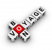 picture of bon voyage  - bon voyage crossword puzzle symbol for web design - JPG
