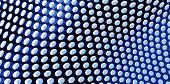 Blue Perforated Screen