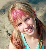 Cute Blond Girl Smiling