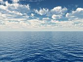 stock photo of clouds sky  - Beautiful sea and clouds sky  - JPG