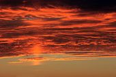 Clouds And Sky On Fire