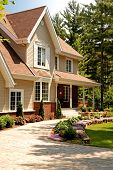 picture of subdivision  - The front entrance to a new residential home - JPG